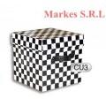 Cajas Cubo Blanco/Negro